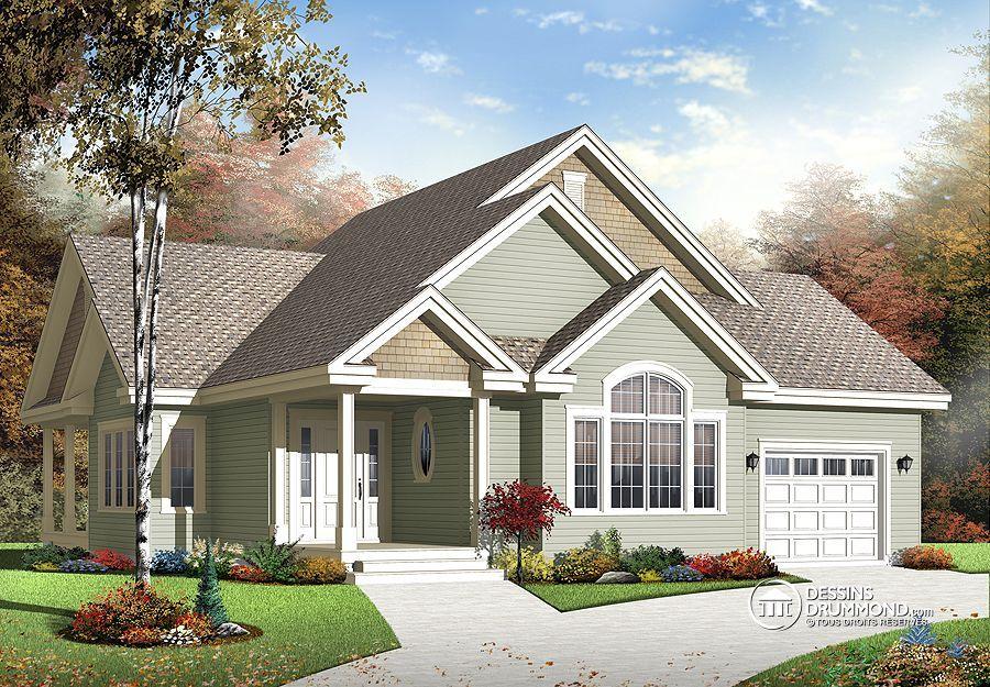 Plan de Maison unifamiliale W3235-V1, champêtre, country, house - idee de plan de maison