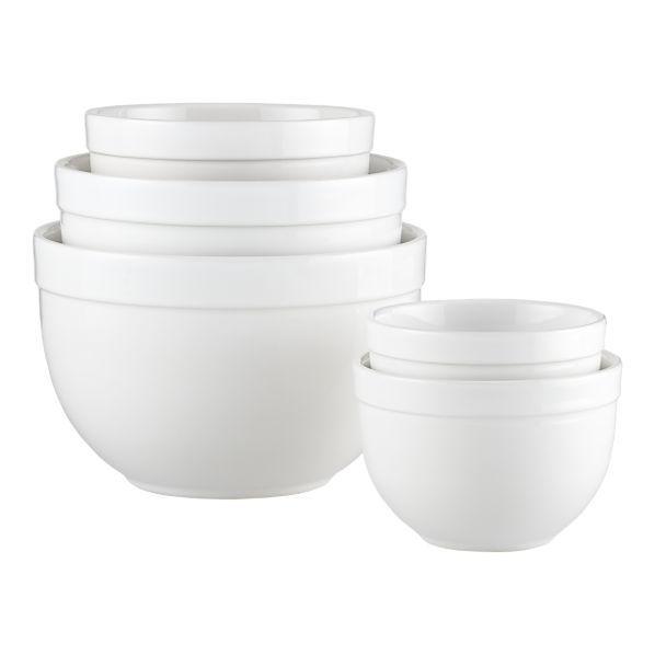 White Mixing Bowls