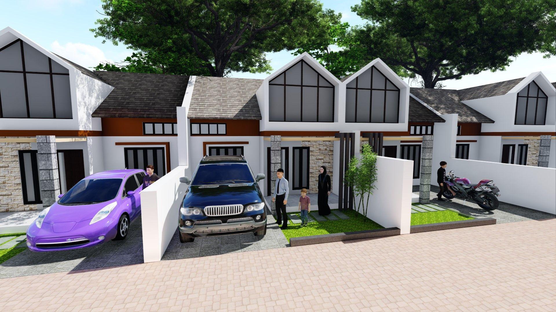 Tipe 36 De Royal Eden House Styles Outdoor Structures House