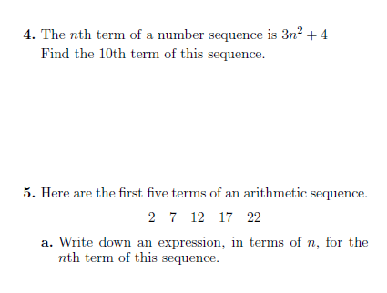 Sequences Generating Sequences And Finding The Nth Term