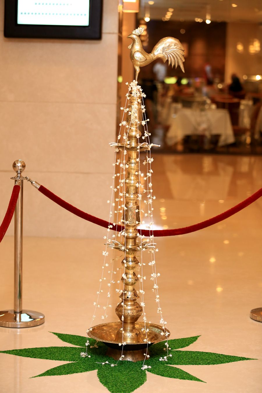 The Traditional Oil Lamp Is Lit At The Auspisious Time Diwali Decorations Flower Backdrop Wedding Diy Wedding Decorations