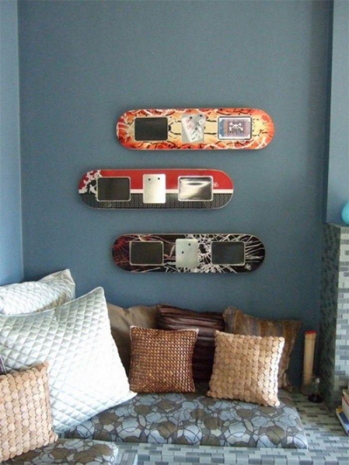 Shapes de skate na decoração