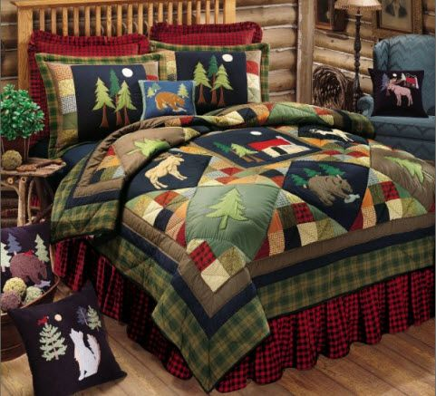 Log Cabin Styles Rustic Quilts Rustic Bedding Cabin Decor