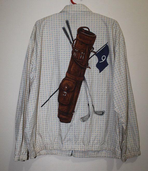Vintage Polo Ralph Lauren Golf Bag Plaid Jacket