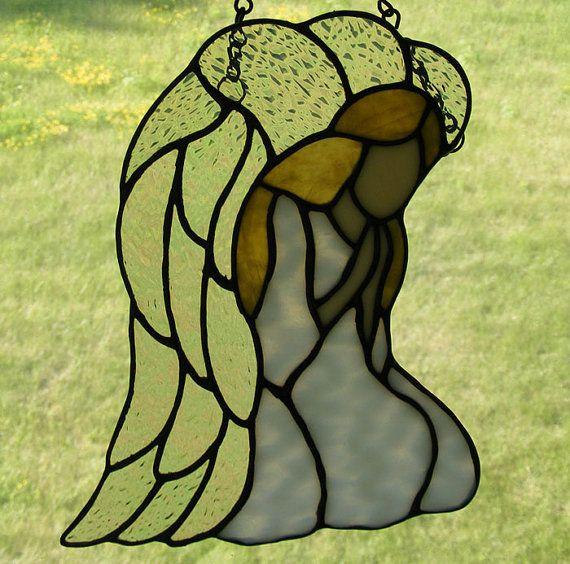 Stained Glass Angel - Devotion    tjn