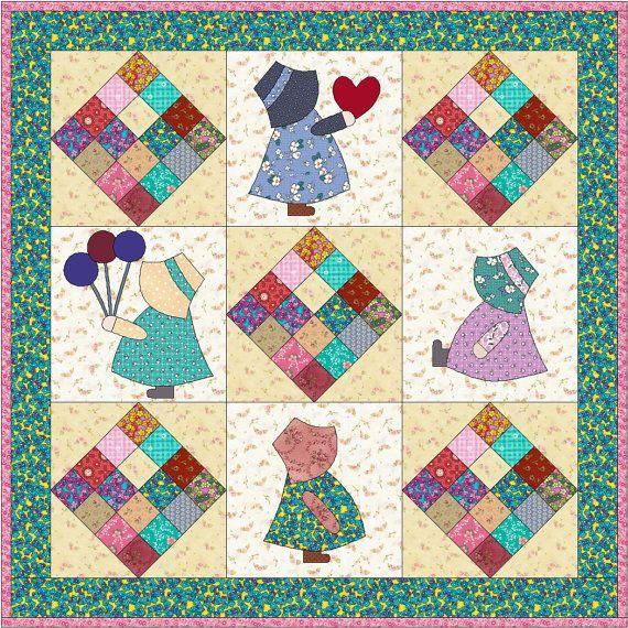 Sun Bonnet Sue Quilt Patterns Free Bing Images Quilt Patterns Pdf Quilt Pattern Quilts