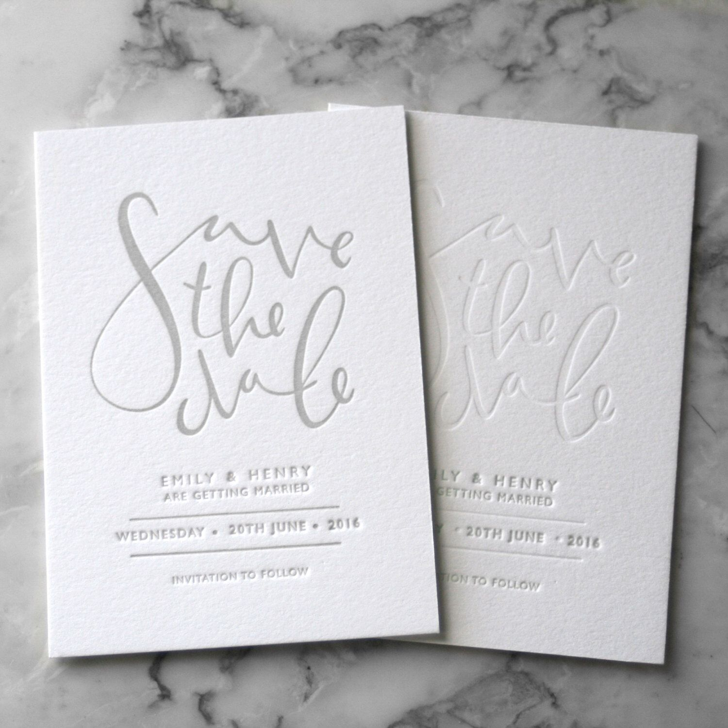 Letterpress Save The Date Invites 50 Pieces By TankervillePress On Etsy