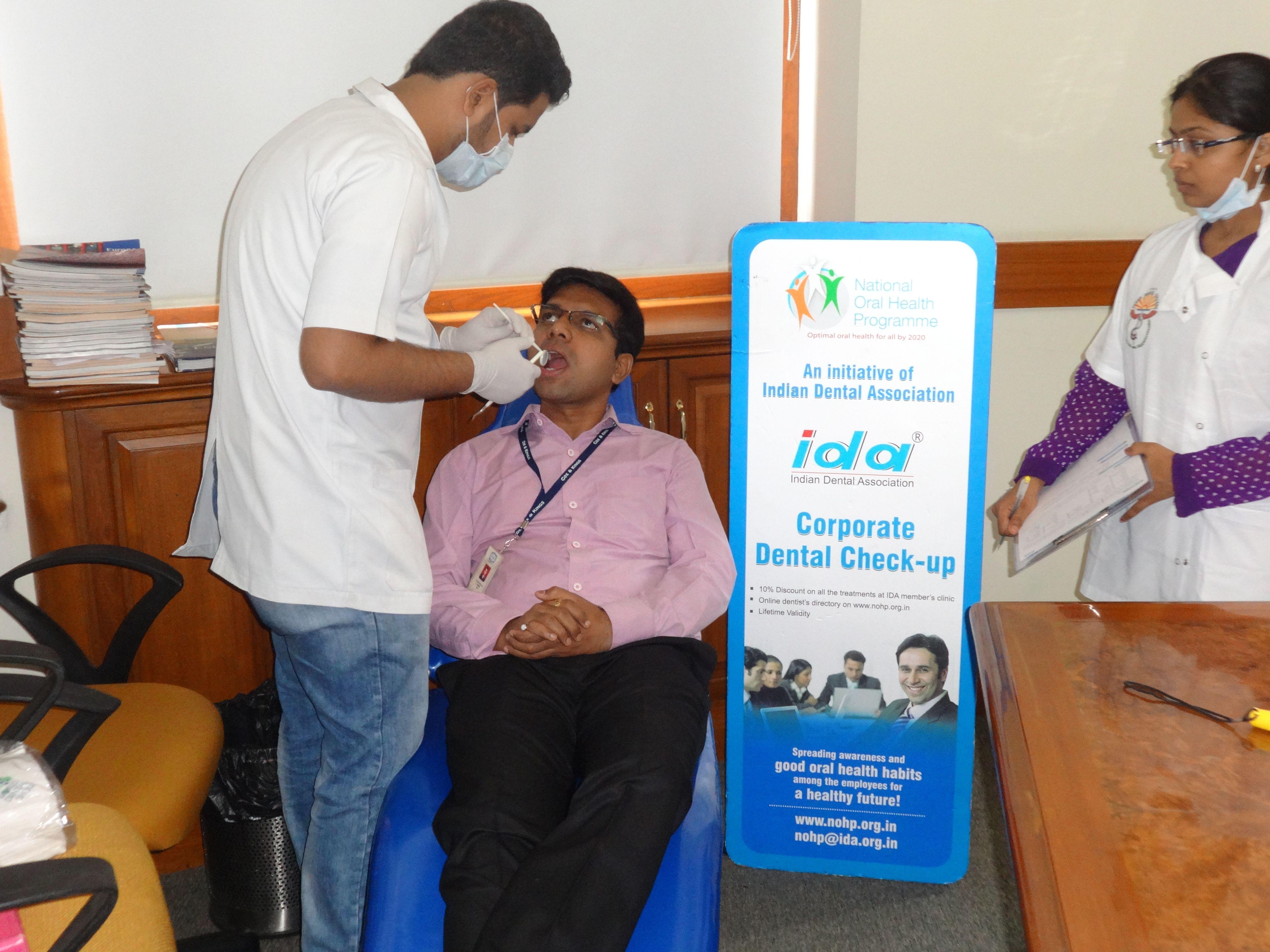 dental # checkup camp at Cox & Kings Ltd | NOHP