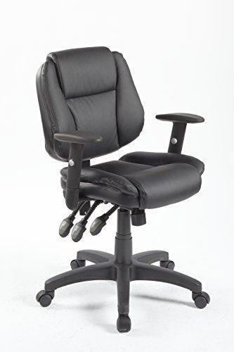 Office Factor Adjustable Managers Computer Desk Task Ergonomic Office Chair Black Leathe Black Office Chair Ergonomic Office Chair Office Furniture Accessories