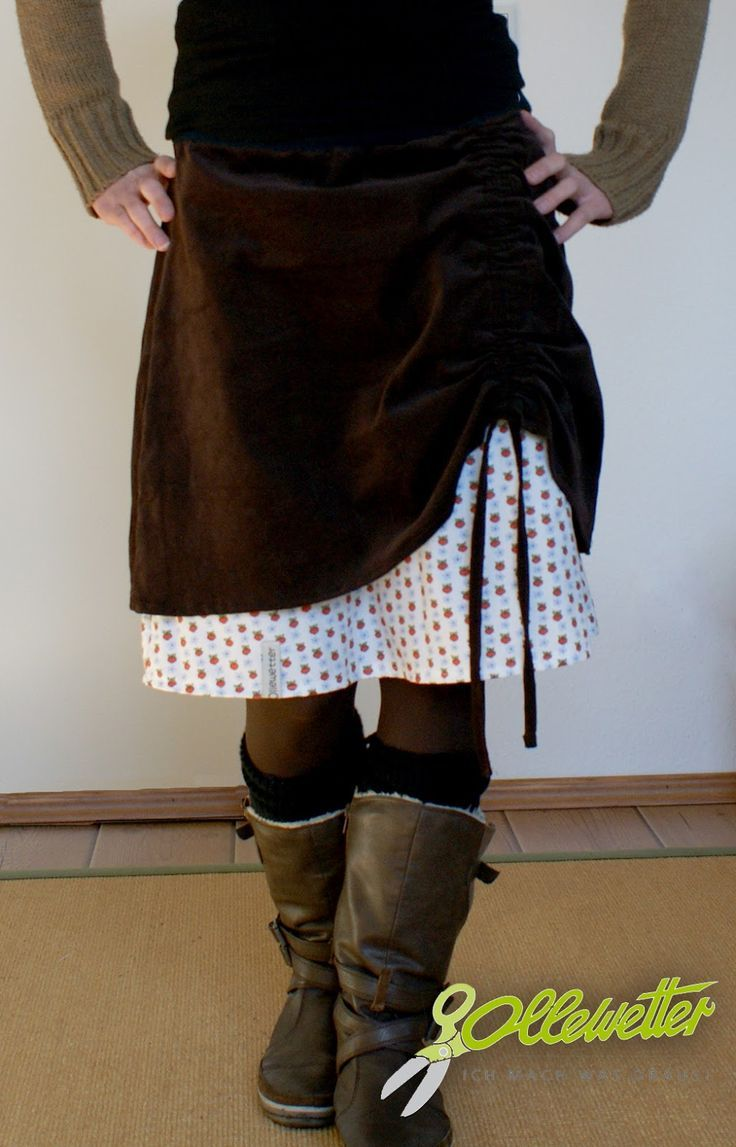 Skirt idea - 2 layers and drawstring on side | Couture | Pinterest ...