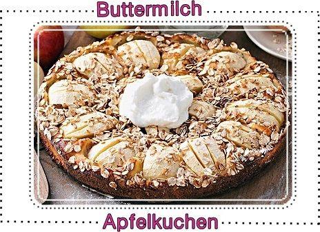 Rezept für ein Buttermilch-Apfelkuchen