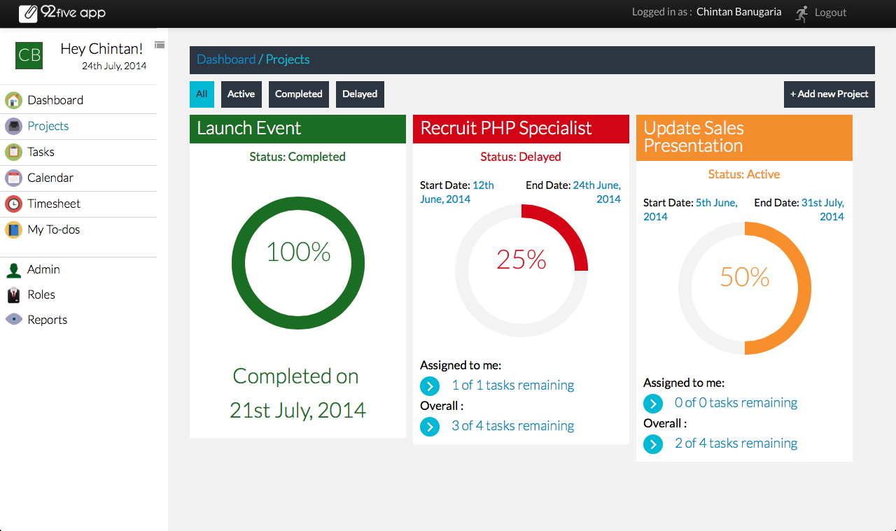 92fiveapp Self hosted Project Management Web Application | CMS ...