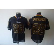 Vikings  28 Adrian Peterson Lights Out Black Stitched NFL Jersey ... eadfeb4ae