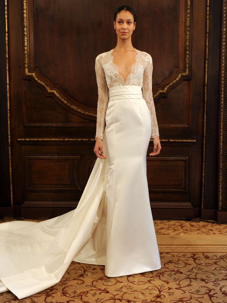 See Monique Lhuillier Wedding Dresses From Bridal Fashion Week Wedding Dresses Wedding Dresses Satin Bridal Dresses