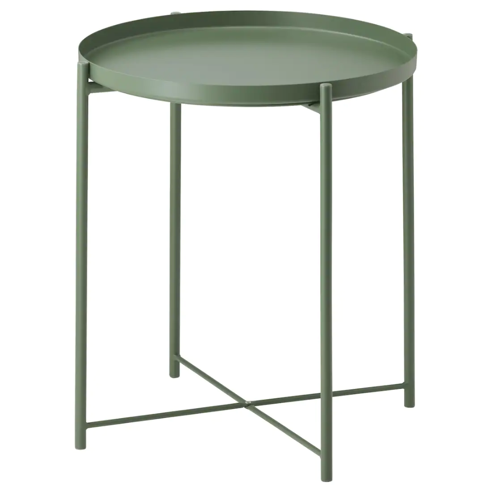 Gladom Tray Table Dark Green Ikea Tray Table Ikea Side Table Metal End Tables [ 1000 x 1000 Pixel ]