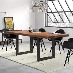 Kori Upholstered Side Chair Reviews Allmodern Solid Wood Dining Table Dining Table Wood Dining Table