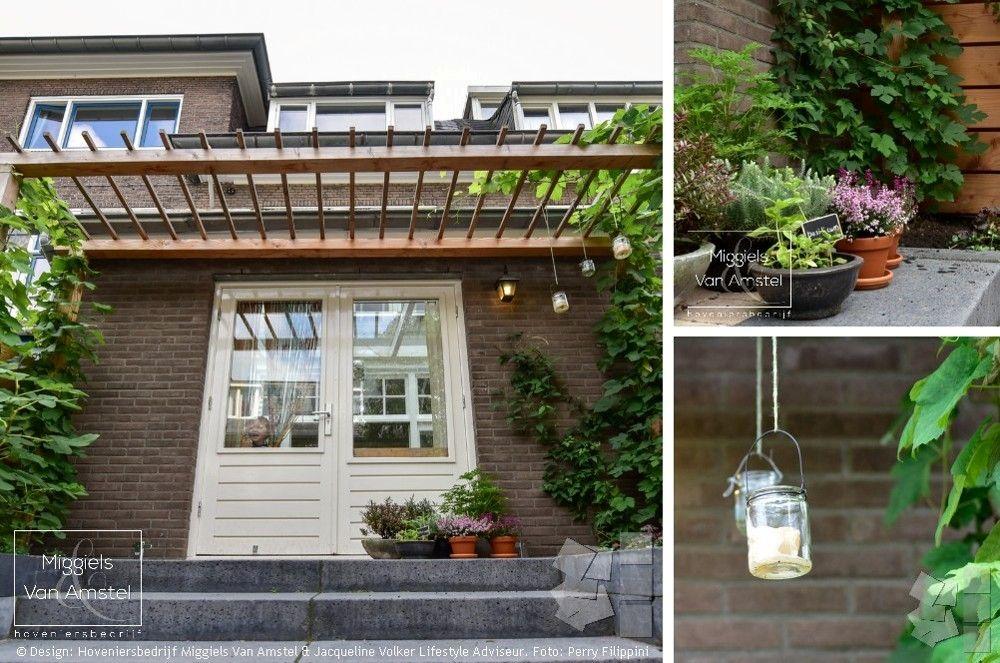 Trap bordes pergola klimplanten kleine stadstuin designed by
