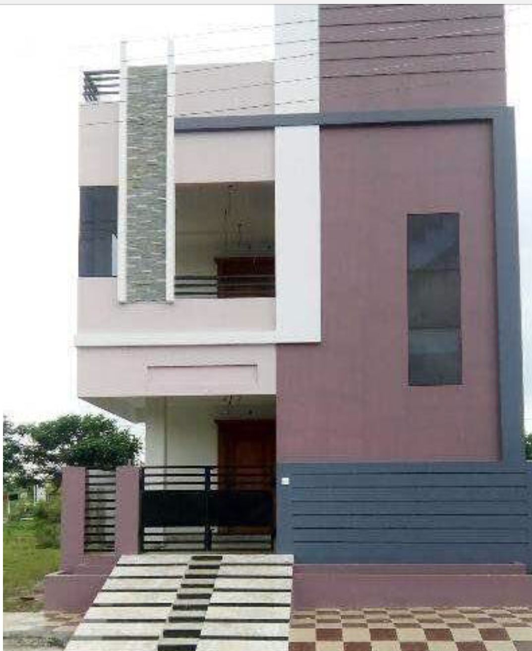 Front elevation designs house duplex plans also exterior design in rh pinterest