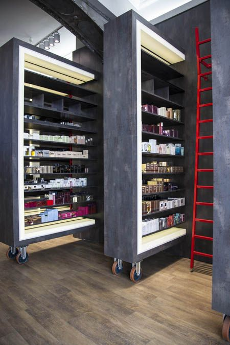 PLANET PRESTIGE in Berlin  A cosmetics and perfumes store which looks like a LIBRARY.