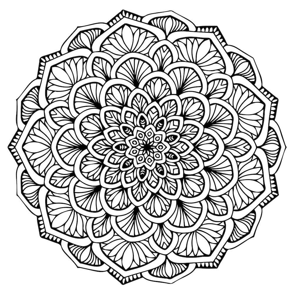 mandalas para colorear dificiles | Mandalas art | Mandala coloring
