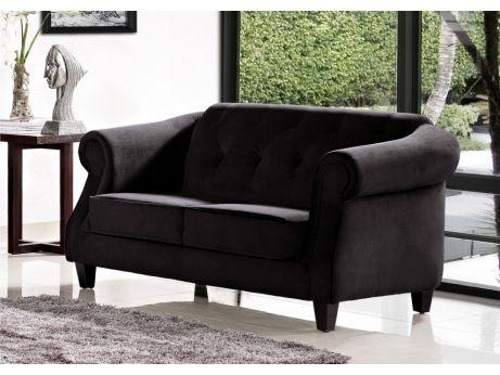 Canapé 2 places tissu VOGUE - Noir