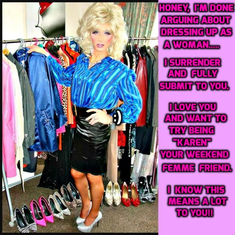 Pin By My Info On Feminized Husband Captions