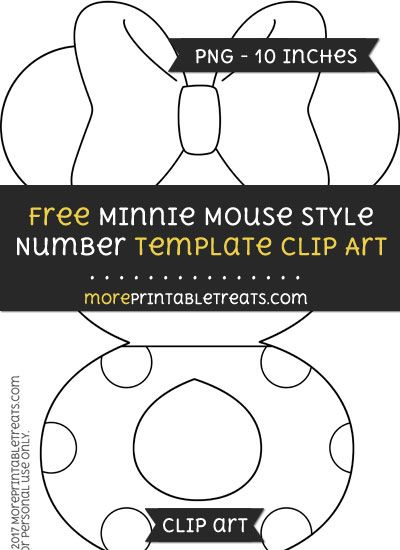 Free Minnie Mouse Style Number 8 Template - Clipart Minnie Mouse - number template