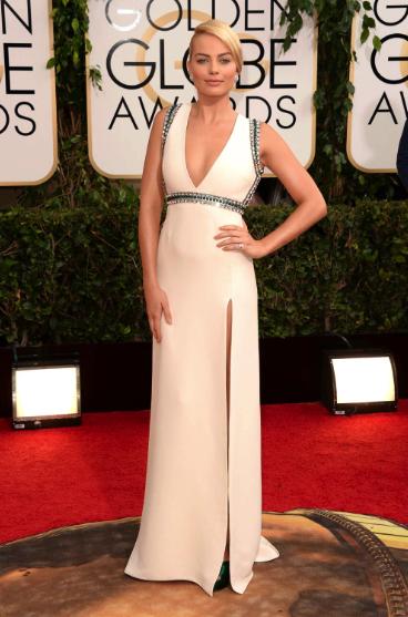 Margot Robbie in Gucci | Golden Globes 2014