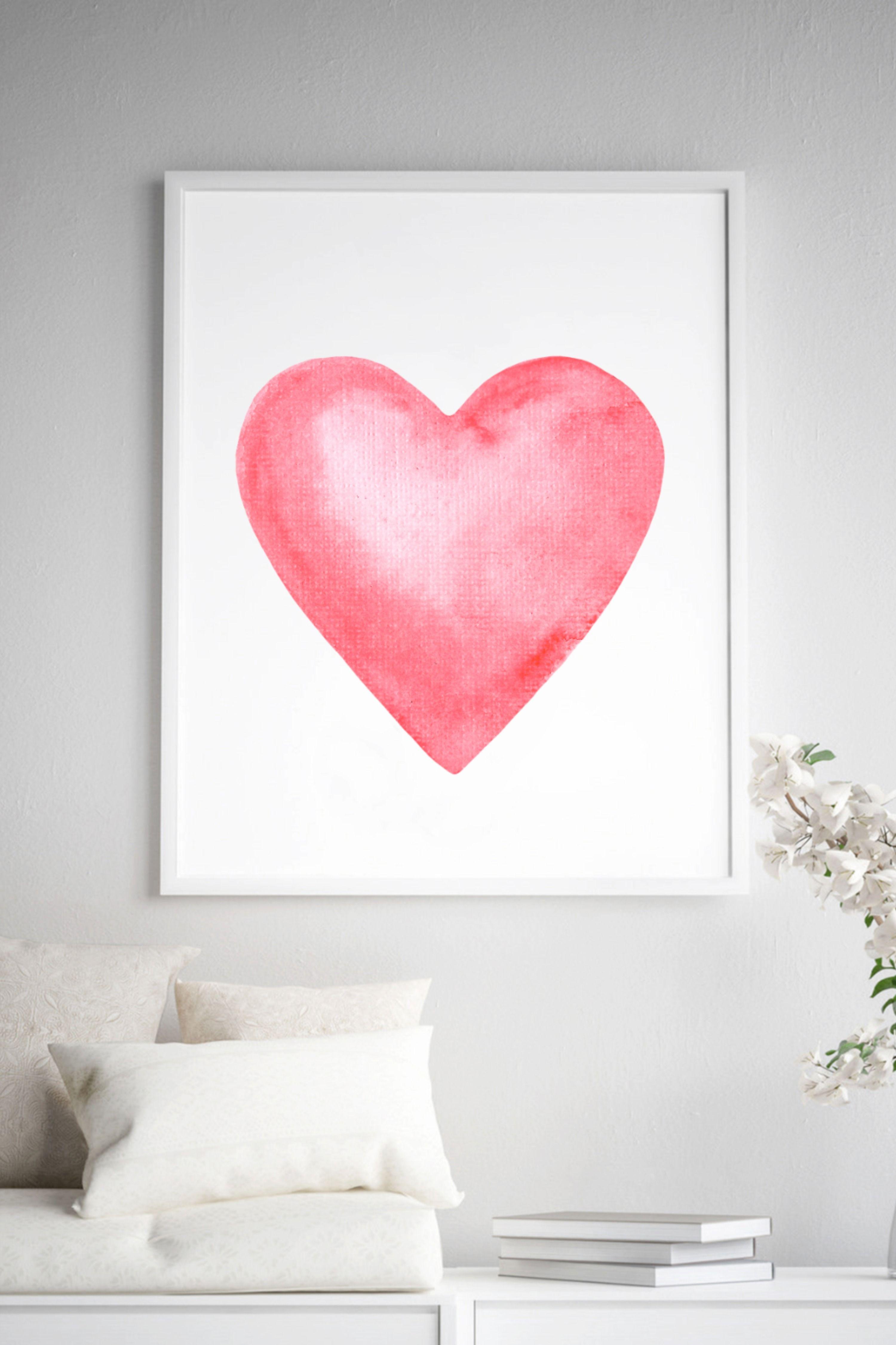 #pinkheart #printableart #valentinesgift #lovedecor #homedecor