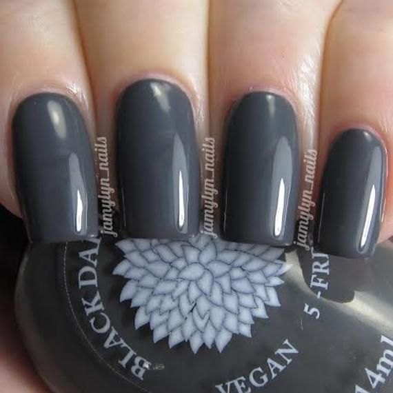 Dark Gray Creme Nail Polish by Black Dahlia Lacquer  Dove | Etsy