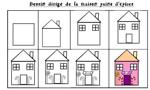 Dessine-moi une maison Easy drawings, Art lessons and Montessori