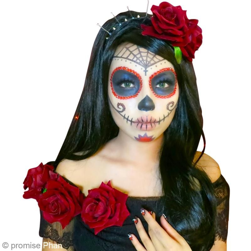 Diy maquillage halloween f te des morts mexicaine id es conseils et tuto halloween - Maquillage squelette mexicain ...
