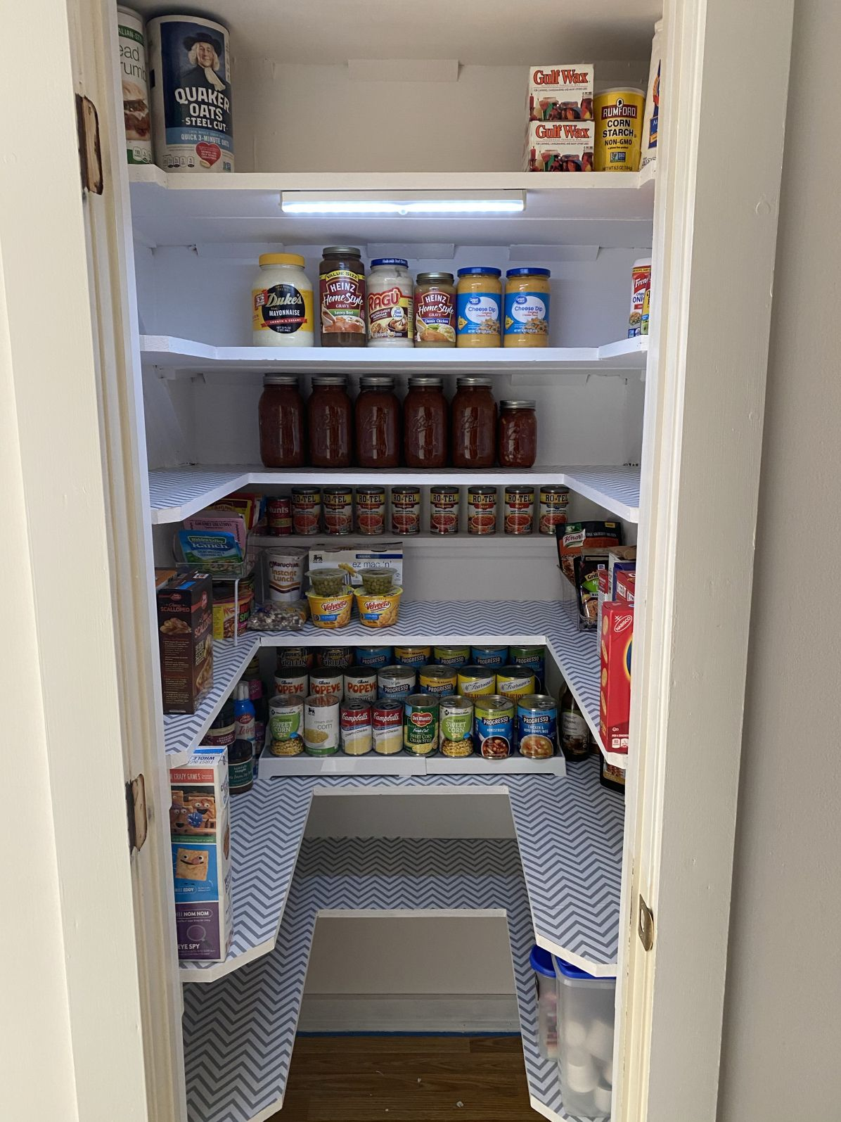 How to convert an under stairs closet into a pantry
