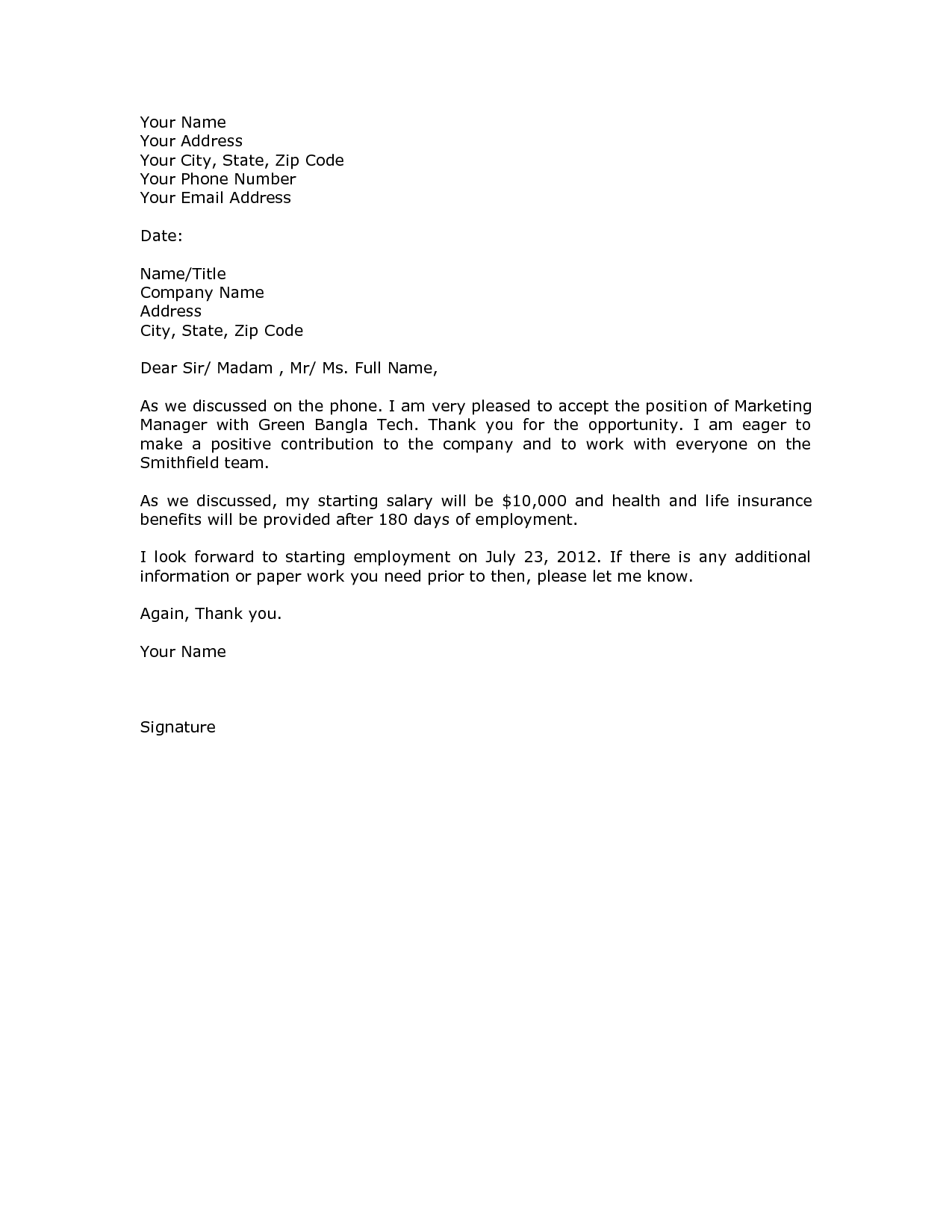 Offer Of Employment Letter Sample from i.pinimg.com