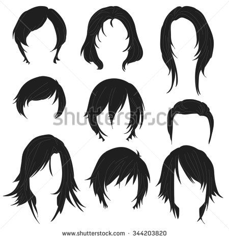 Simple Hairstyles Drawing Front View Manga Anime Google Search How To Draw Hair Anime Hairstyles In Real Life Drawings