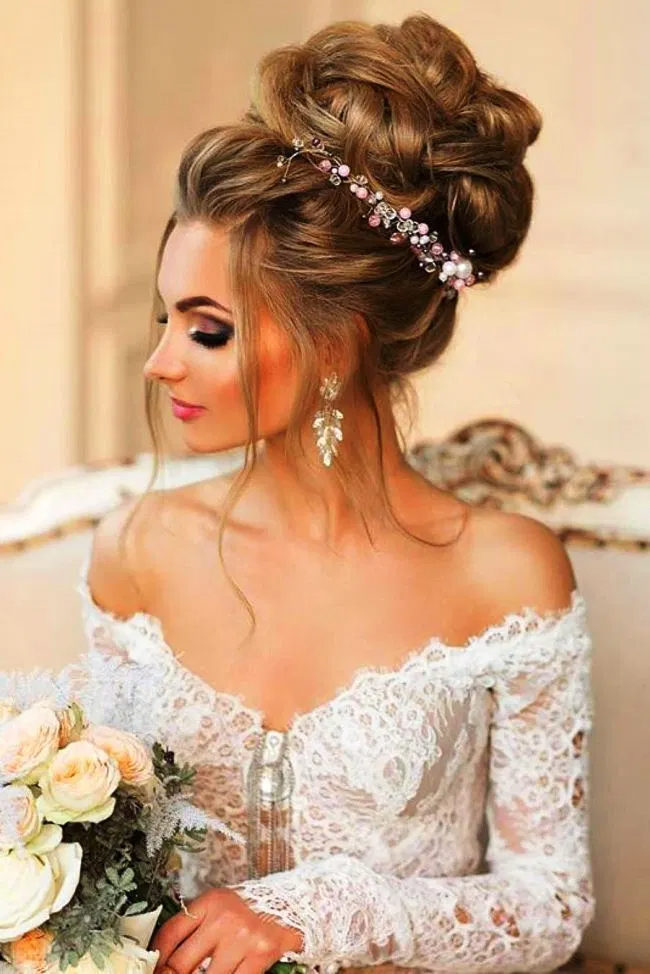Hairstyle For Wedding Gown Wedding Bun Hairstyles Hairdo Wedding Best Wedding Hairstyles