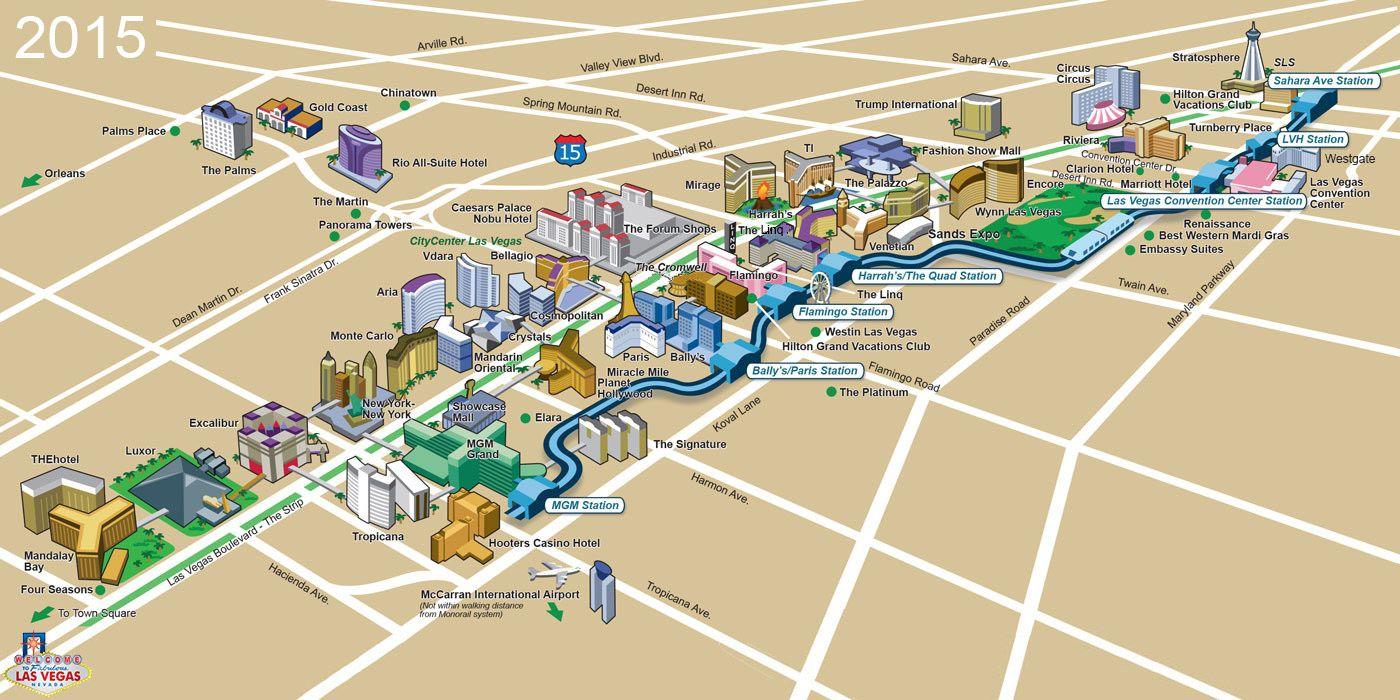 Las Vegas Walking Map Virginia Map - Las vegas walking map