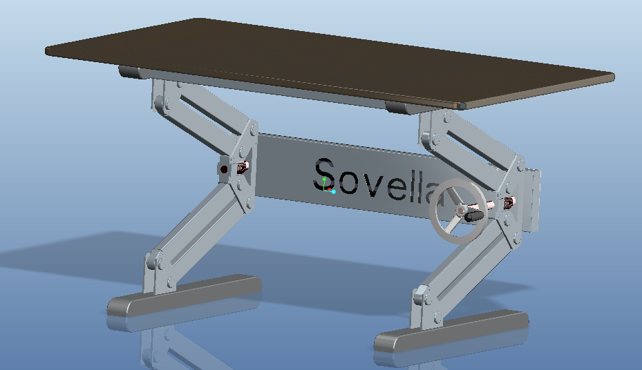 Height Adjustable Table STEP IGES 3D CAD Model