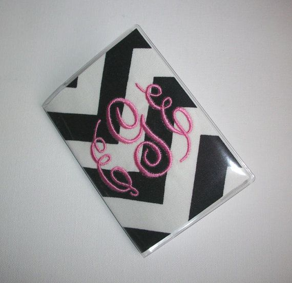 Vinyl Passport Cover / Holder / Case  Chevron  Zig by FLHCreations hand made / custom fabric patterns / designs for you, co-worker, friends / preppy / cute / personalized