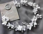 Floral Bridal Headband Flower Bridal Tiara Headband White Flower Hair Bridesmaid...#bridal #bridesmaid #floral #flower #hair #headband #tiara #white