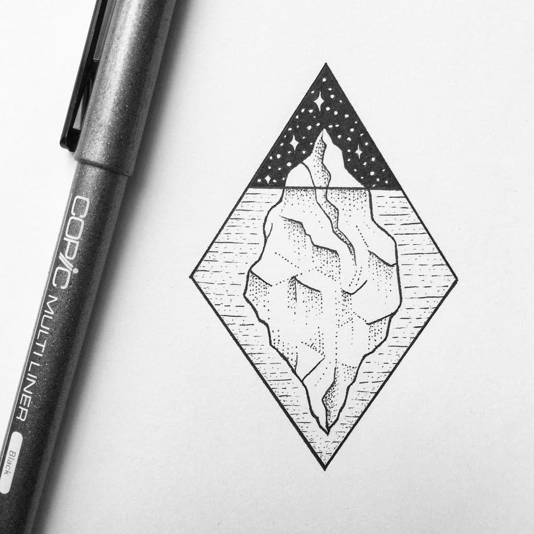 459 Likes 12 Comments Peta Jane Heffernan Peta Heffernan On Instagram Below The Surface Iceberg Drawi Easy Drawings Geometric Tattoo Ice Tattoo