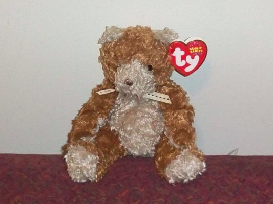 2004 Original Ty Beanie Baby- Whittle The Curly Brown Bear w Tags (FREE  Shipping!) 35f2ae51476