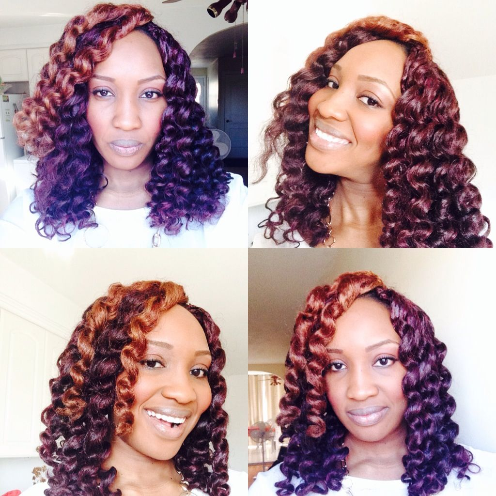 Protective style crochet braids with expression hair ... Wow. Just beautiful