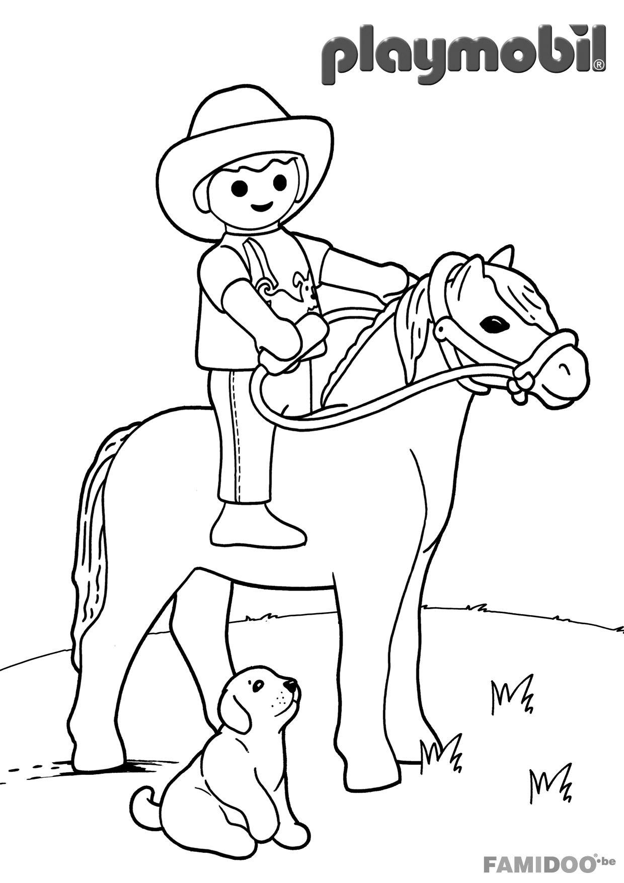 Coloriage à imprimer : Personnages célèbres - Playmobil numéro ...