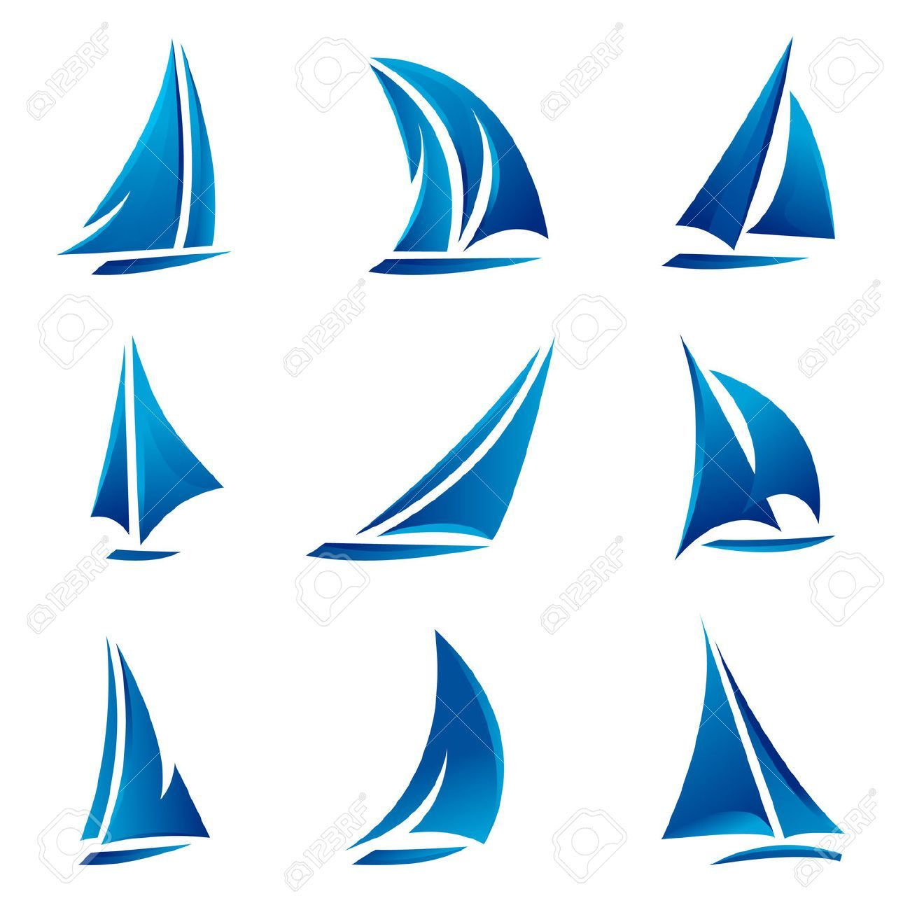sailboat stock vector illustration and royalty free sailboat clipart yachttattoo [ 1300 x 1300 Pixel ]