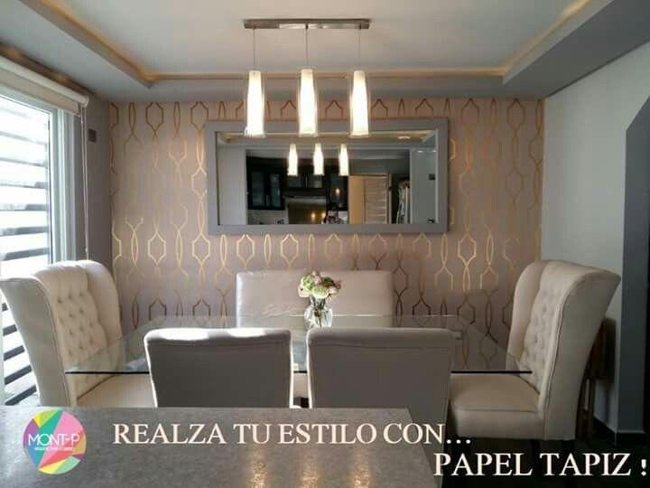Mesa con base de herrer a herrer a tapices para salas for Patron de papel tapiz para sala comedor