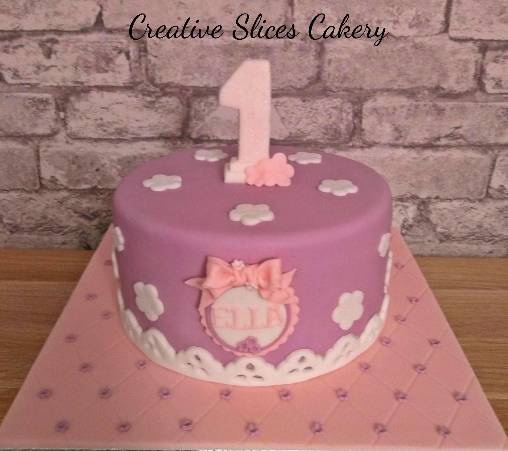 Pretty 1st Birthday Cake X Gillys Cakes Pinterest Birthday