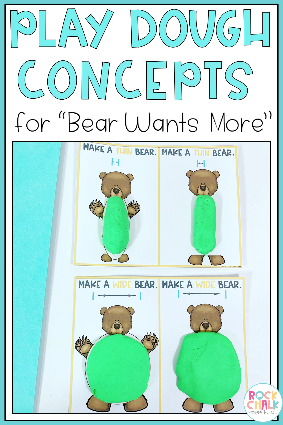 Bear Wants More Speech Therapy Book Companion