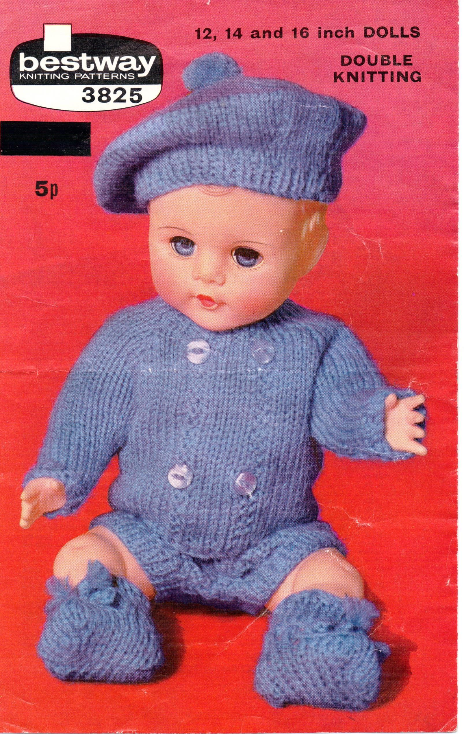 9944557c27e2 Baby Dolls Knitting Patterns Outfit Hat Jacket Shorts Shoes Dolls ...