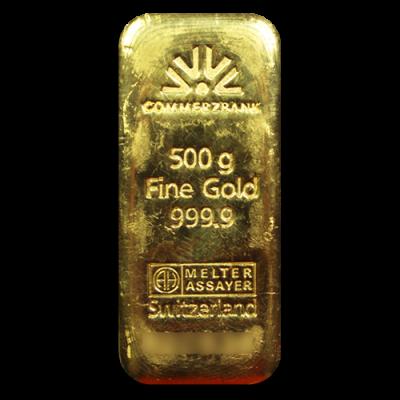 500g Gold Bullion Gold Bar Commerzbank Gold Bullion Bars Gold Bullion Silver Eagles